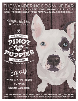 Pinot for Puppies Event