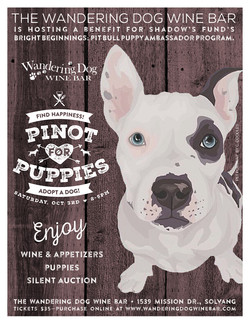 Pinot for Pups flyer design