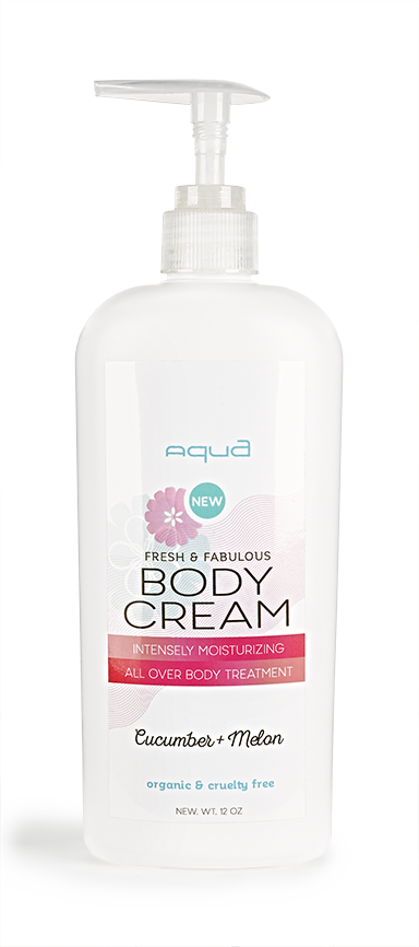Aqua Nail Bar Body Cream Label