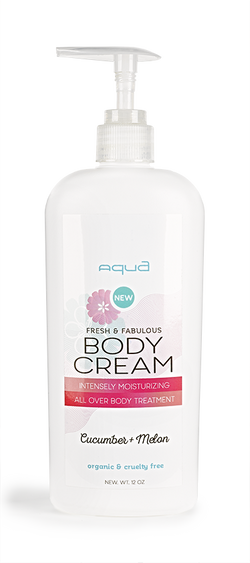 Aqua Nail Bar Body Cream Label