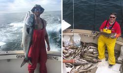 Striper Charter Boat Fishing
