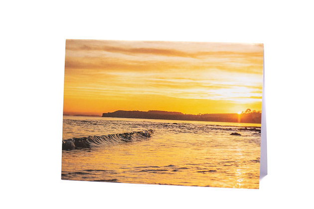 Sunset Curls A6 Card