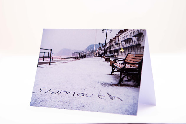SIDMOUTH SNOW! A6 Card