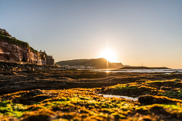 Sunrise from the Rockpools - Sidmouth, Devon