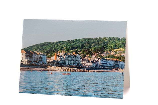 Summer in Sidmouth, Devon A6 Card