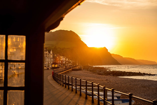Sunrise from the Shelter - Sidmouth