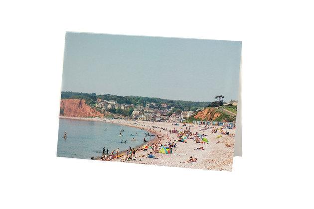 Summer at Budleigh Salterton, Devon A6 Card