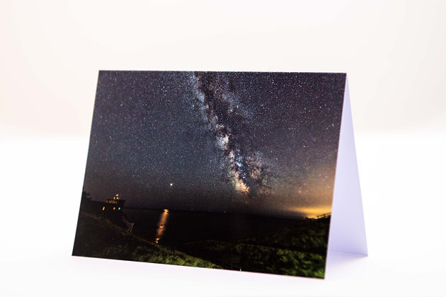 Milky Way & Mars, Jacobs Ladder A6 Card