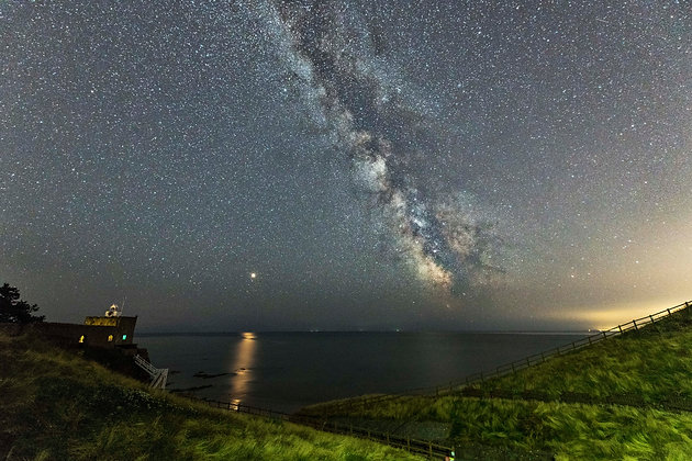 Milky Way over Jacobs Ladder - Sidmouth