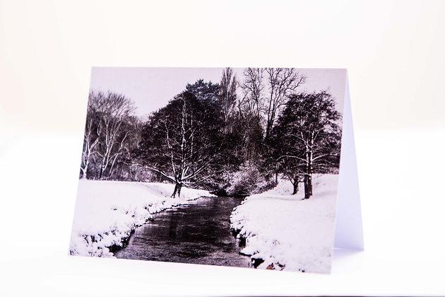 River Sid Snow Scene A6 Card