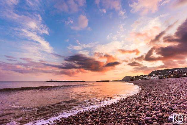 Sidmouth Sunset Scene
