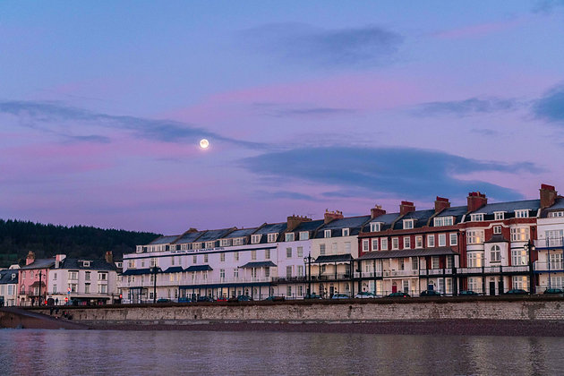 Moonset over Sidmouth