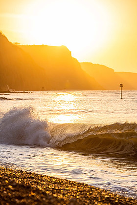 Sunrise Shore Break Sidmouth