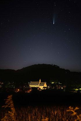 Comet Neowise above Sidford Church, Devon