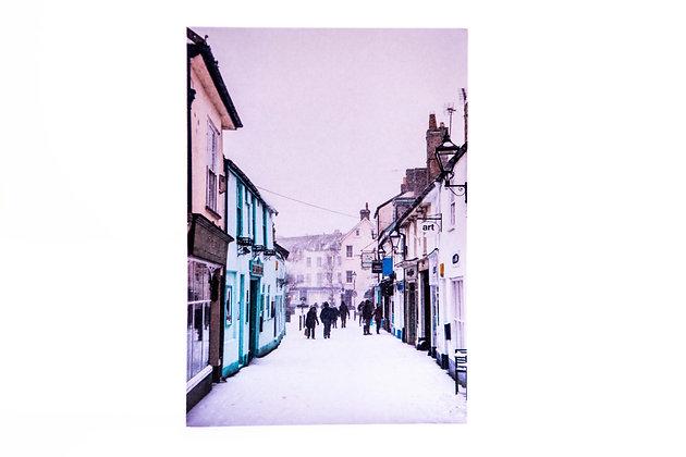 Sidmouth High Street Snow A6 Card