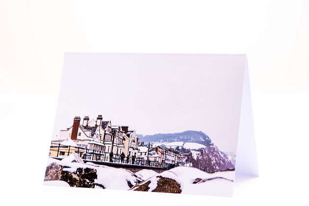 Snow Kissed Sidmouth Seafront A6 Card