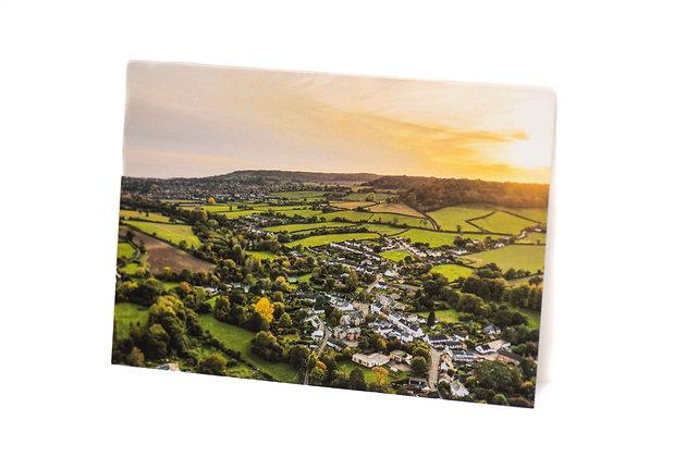 Sidbury to Sea, Devon A6 Card