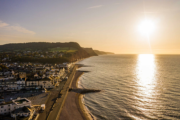 Aerial over Sidmouth