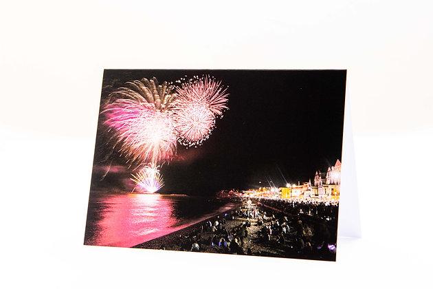 Sidmouth Folk Week Fireworks A6 Card
