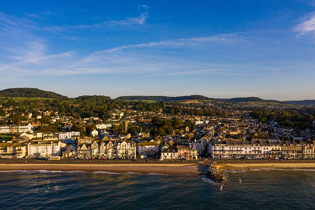 Sidmouth from Sky