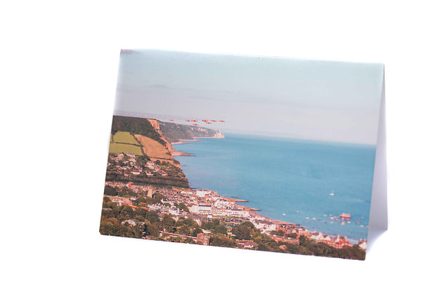 Red Arrows Over Sidmouth, Devon A6 Card
