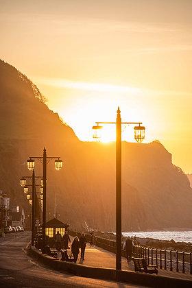 Sidmouth Streetlight Sunrise