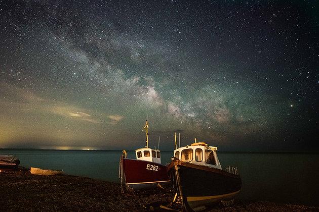 Milky Way over Beer Boats - Devon