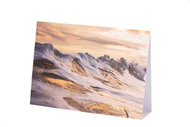 Golden Wave, Sidmouth A6 Card