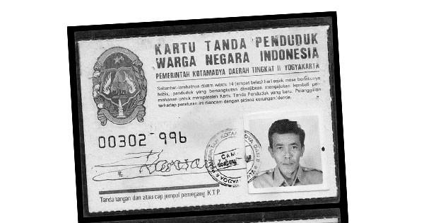 KTP Indonesia Jaman Doeloe pertama