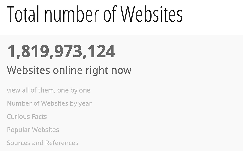 There are 1.8 billion websites