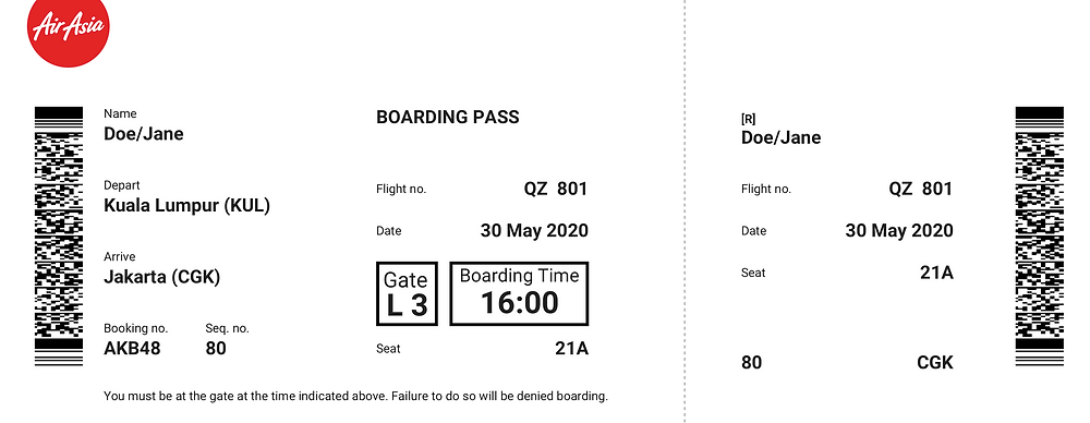 the redesigned boarding pass