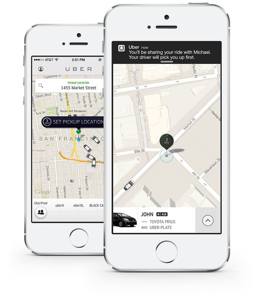 You can track in real time how far your uber car is