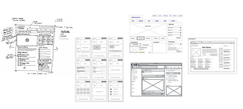 example of wireframes