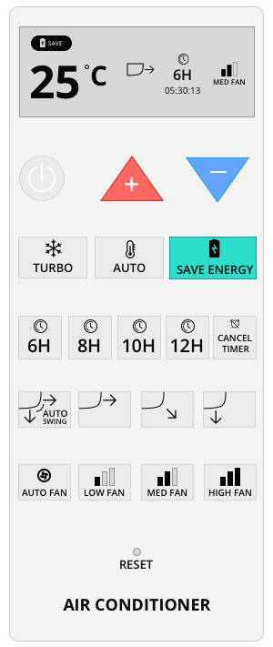 This version did not make it to the final as some users do not understand what the SAVE ENERGY button for
