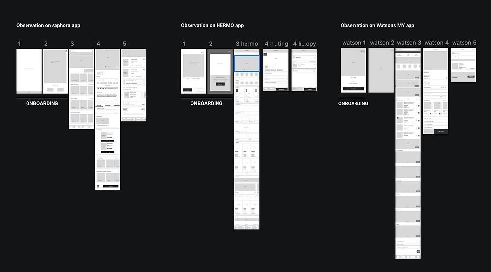sample UI Wireframe study