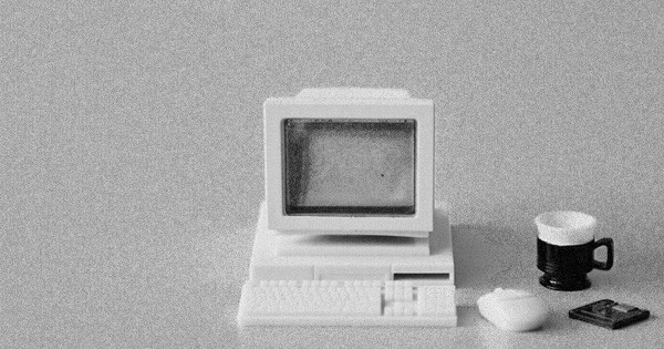 vintage computer monitor