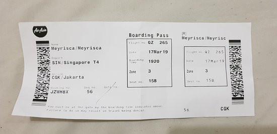 The current Boarding pass design