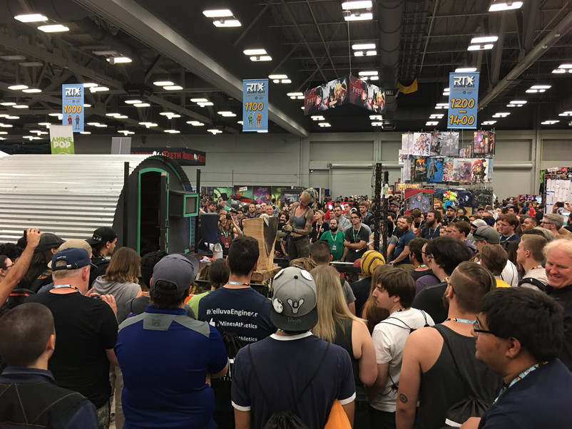 live carving at RTX