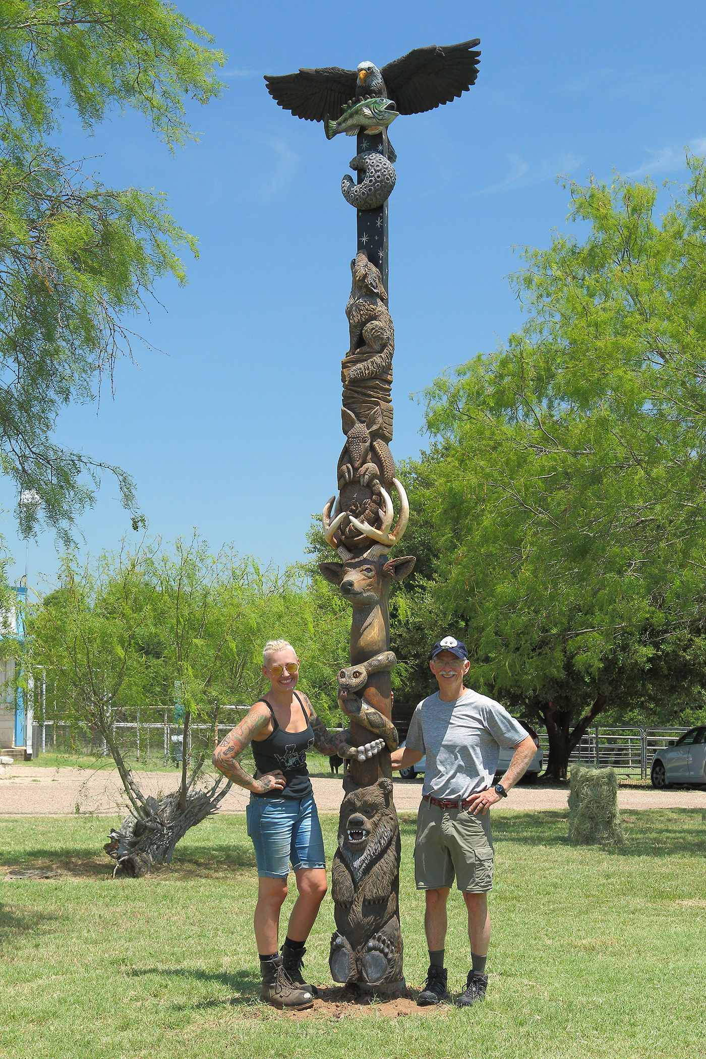 Texas Wildlife Totem Pole