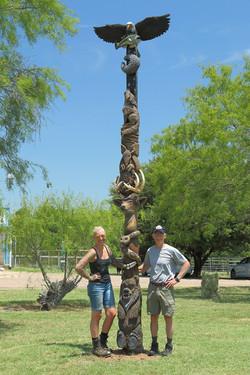Texas Wildlife Totem Pole