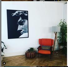 @kitdewaal on Instagram - Picture by @designkarn - new sitting area for reading #bookstagram #wallart #anreading #interiors