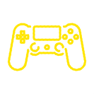 CONTROLE VIDEO GAME AMARELO.png