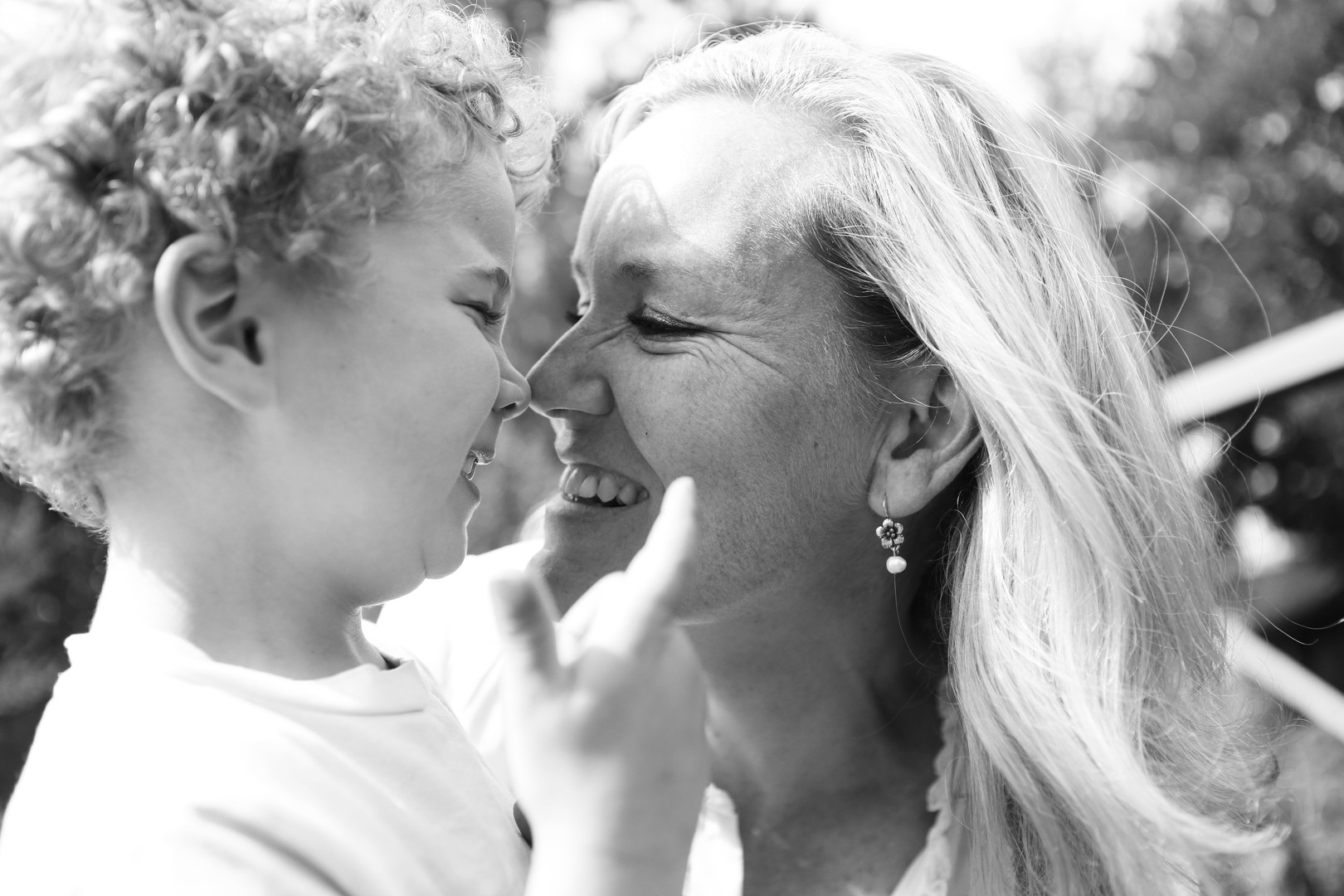 photo shoot of mother and son
