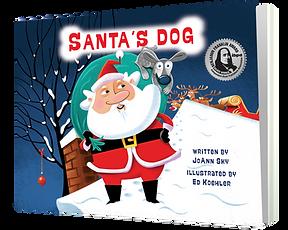 Santa's Dog_as standing up book-MEDAL_PN