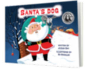 Santa's Dog_as standing up book-MEDAL_PN