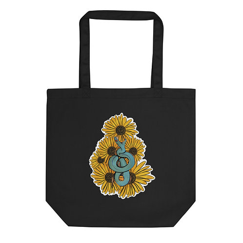Snakes & Sunflowers Eco Tote Bag