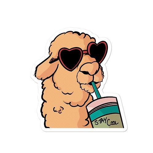 Stay Cool Llama Sticker