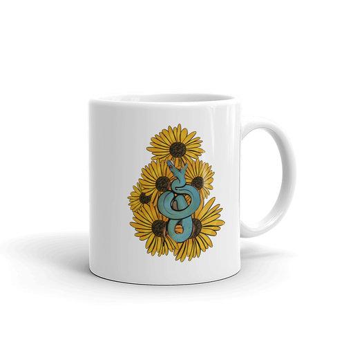 Snake & Sunflowers Mug