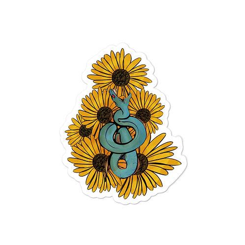 Snakes & Sunflowers Sticker