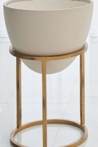 Wise Egg Plant Stand- Antique Gold